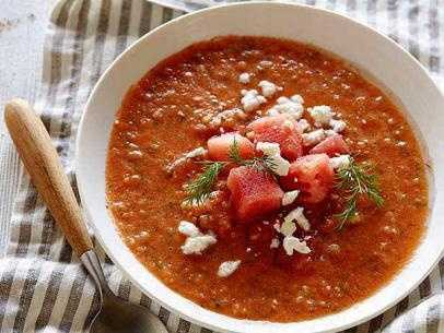 Watermelon Gazpacho: Click to get the recipe