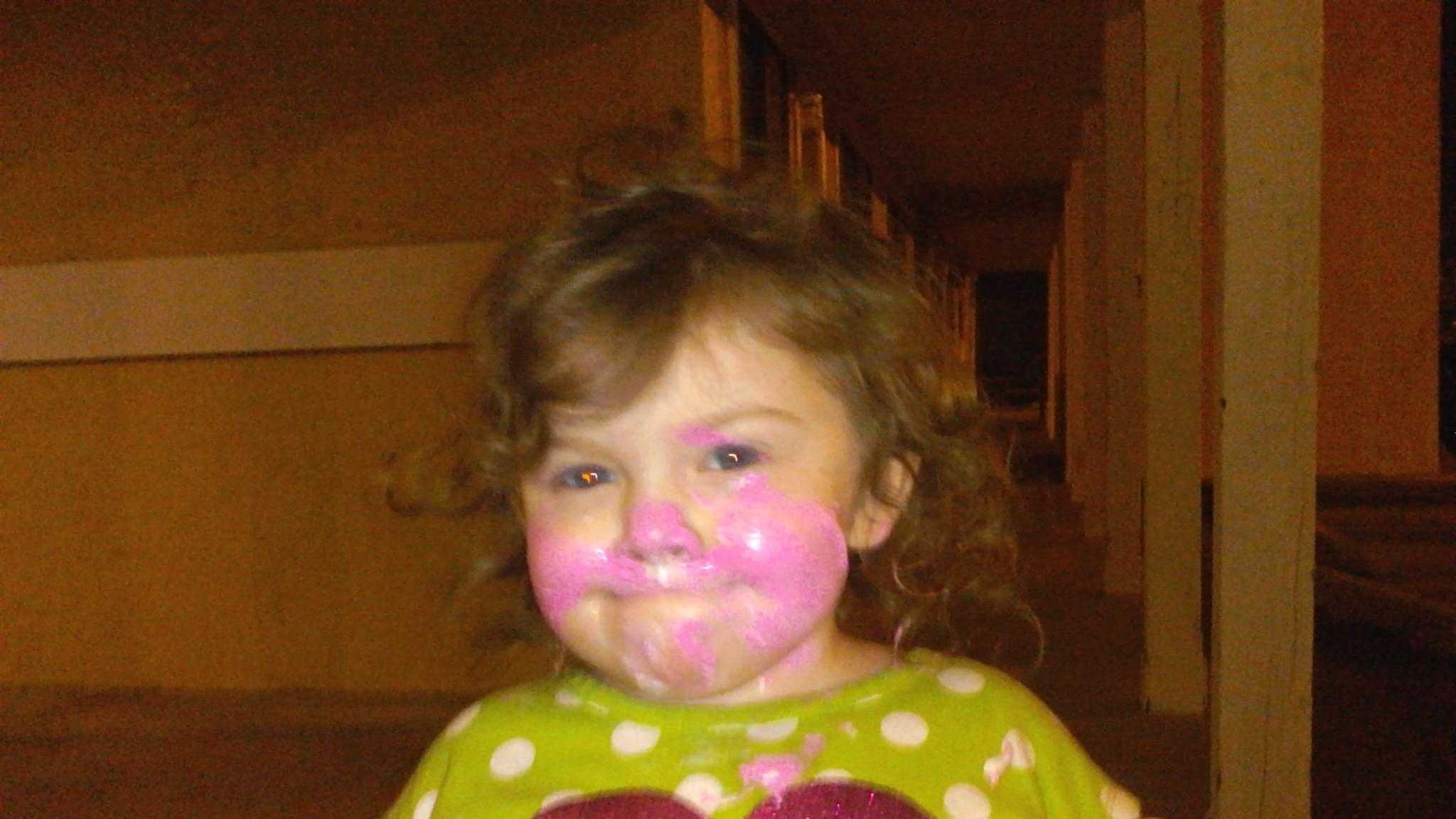 Three-year-old Sunday Grace was found Sunday morning in the parking lot of a restaurant.