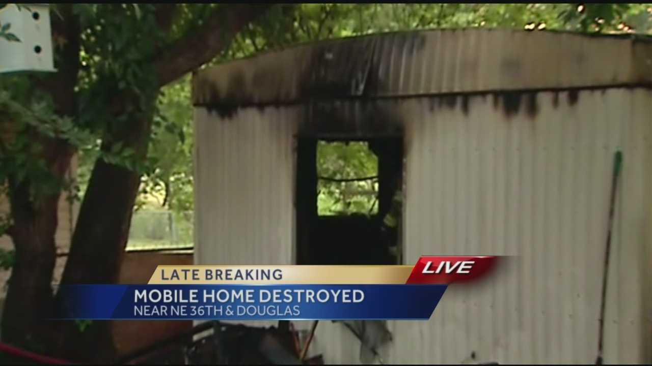 A man escaped a Spencer mobile home fire Tuesday morning.