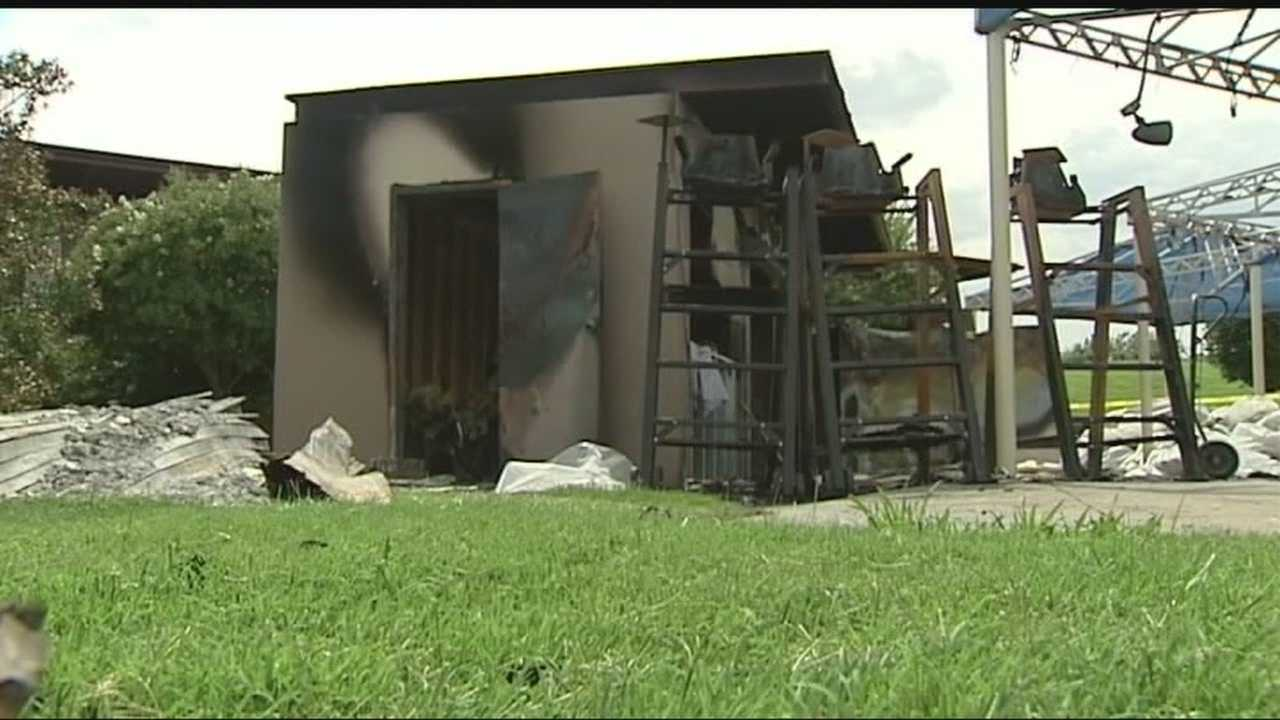 Investigators say a building at an OKC public park was burned on purpose.