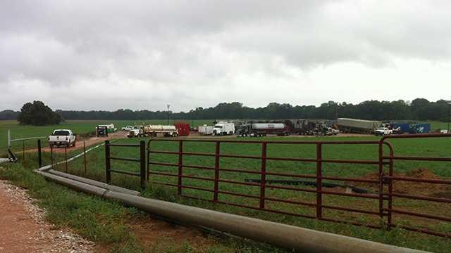 Major oil field spill in Kingfisher County