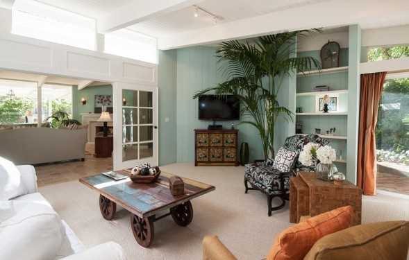 The home is in a gated community within walking distance of Paradise Cove beach.
