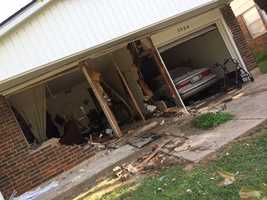 Two women are recovering after a minivan crashed into a home in Midwest City, Tuesday afternoon.