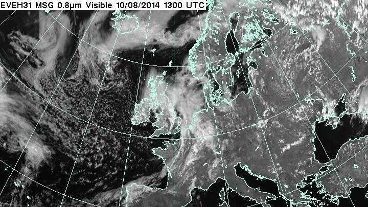 Visible satellite over Europe
