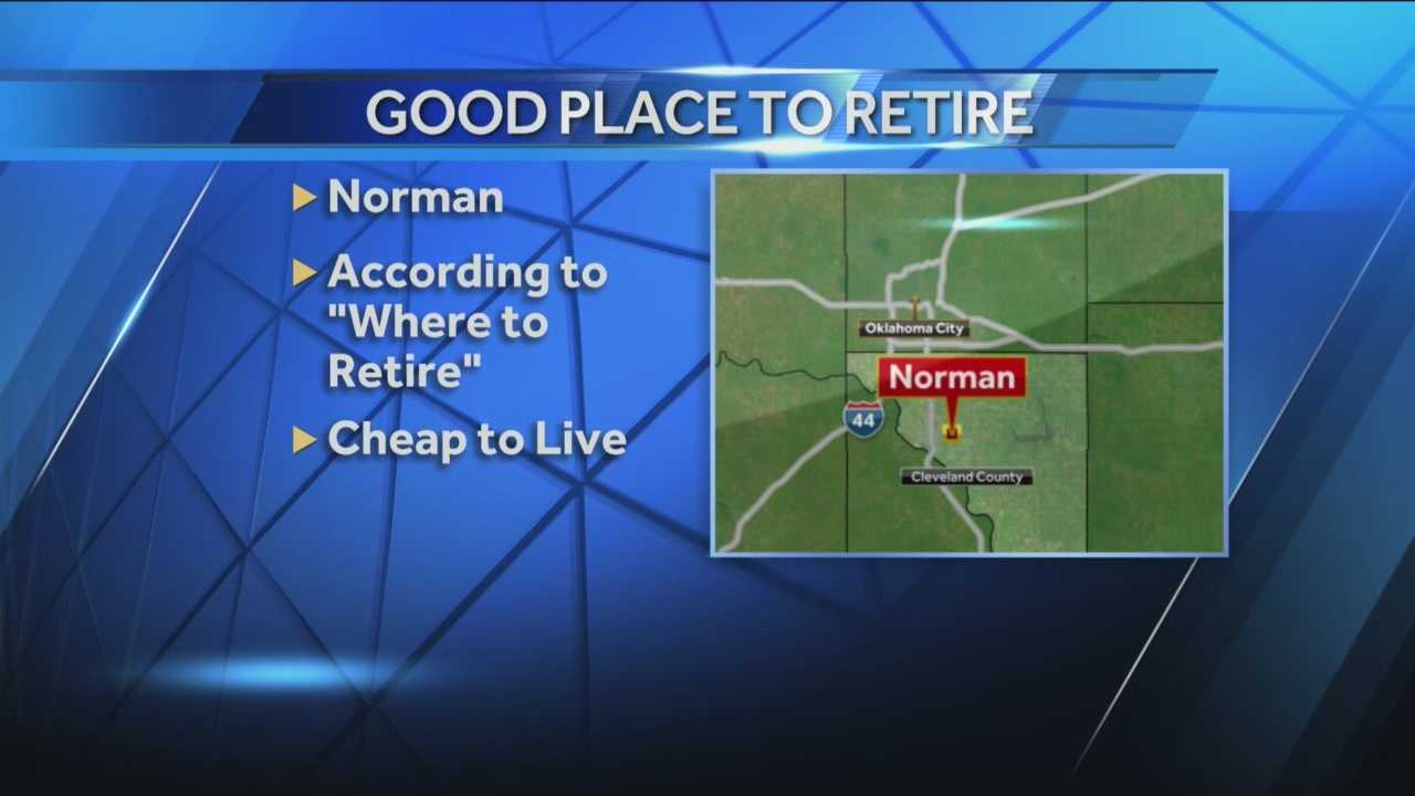 A publication has named Norman one of the top low-cost places to retire.