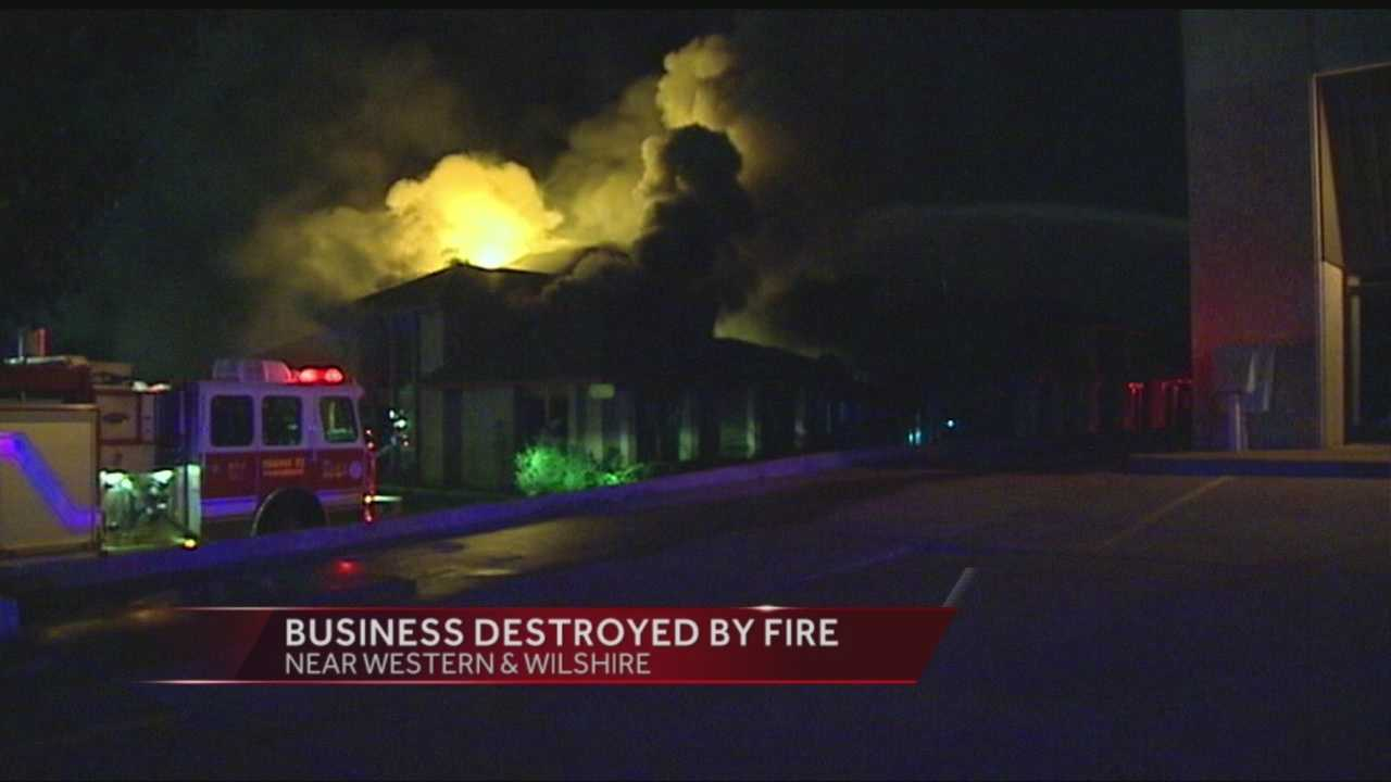 An early-morning business fire in NW Oklahoma City is under investigation.