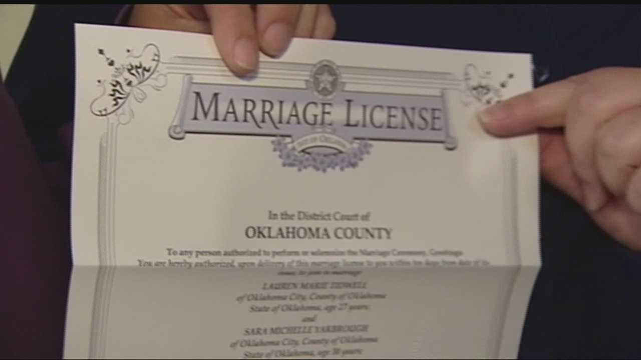 After the Supreme Court of the United States rejected a same-sex marriage appeal from Oklahoma and four other states, couples lined up a the courthouses in Oklahoma to get marriage licenses.