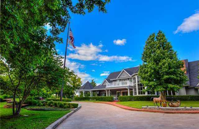 This property includes 80 acres, a golf fairway, a horse stable and riding arena and a house with 12,000 feet of living space.  For more information on this property, click here.