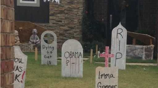 Woman says fake Obama tombstone is disrespectful