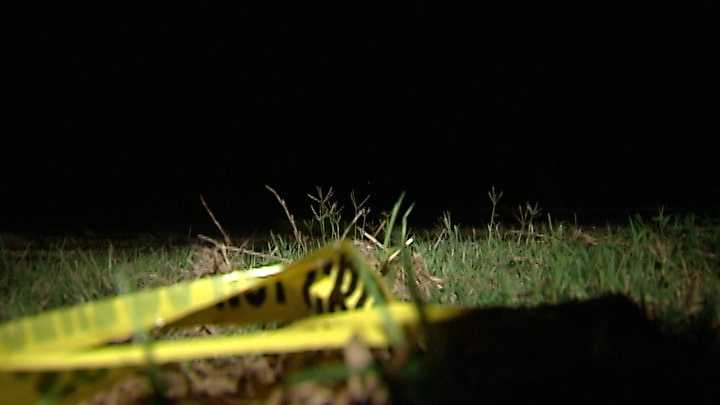 A maintenance worker found human remains while mowing grass Friday afternoon.