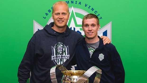 Right: Chris Spendlove. Photo courtesy www.mlssoccer.com.