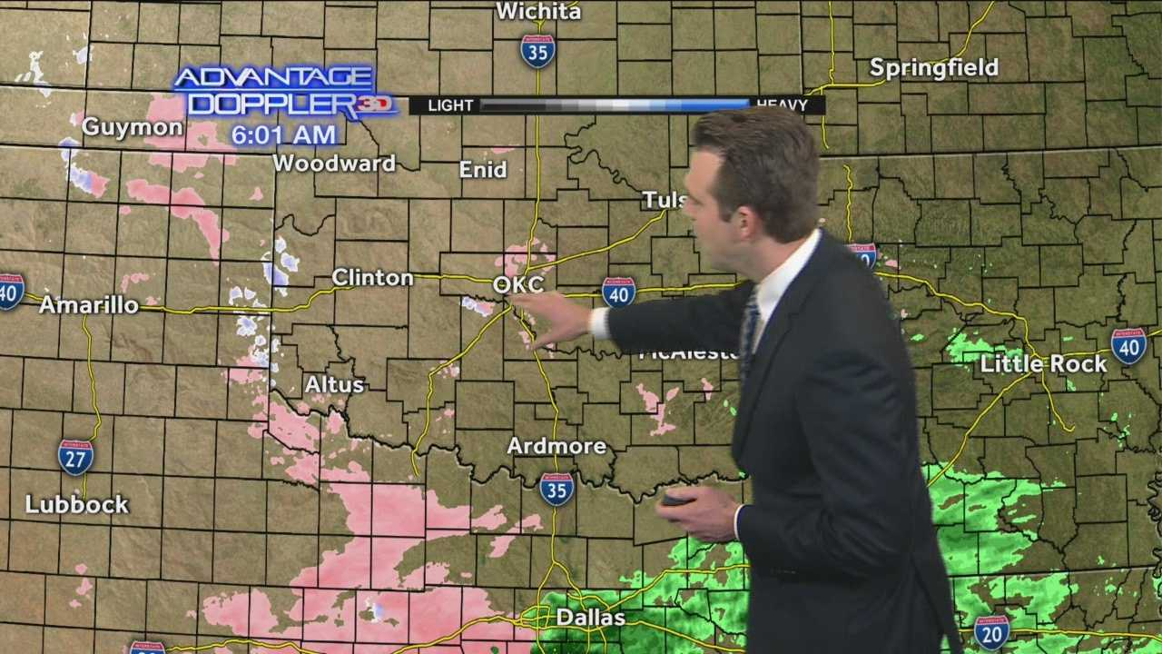 A light freezing rain is falling in the metro early Thursday morning.