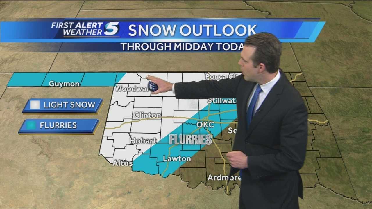 Parts of the state could see flurries this morning. Otherwise, a warm up is on the way.