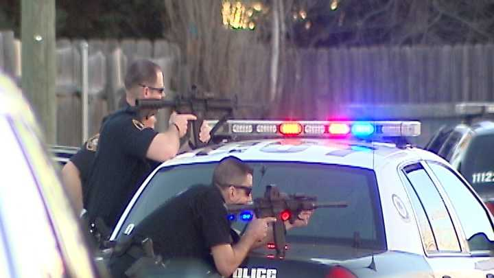 A violent crime ended in a standoff with the Norman police and SWAT team.