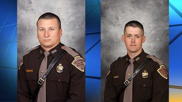 Trooper Nicholas Dees, left, and Trooper Keith Burch, right.