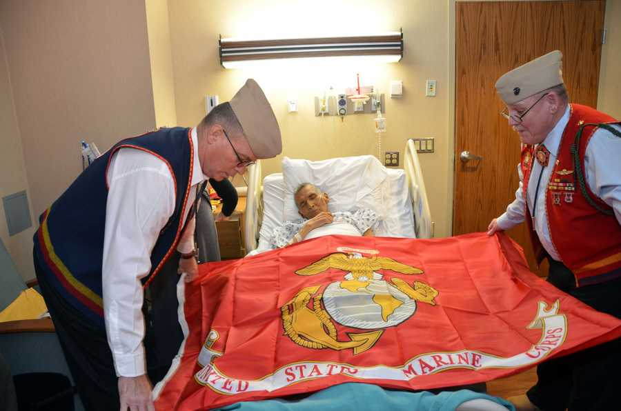 A dying marine had one final wish. He wanted to be buried in uniform, along with a Marine Corps flag.