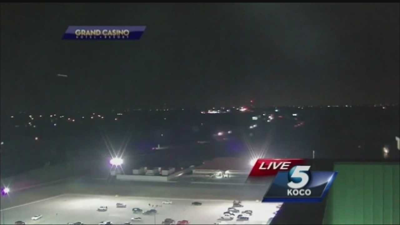 It's been a day since the KOCO morning team caught a mysterious light flying across the sky near the Grand Casino in Shawnee.