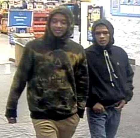 Oklahoma City police are looking for two men who tried to steal a woman's purse at a Walmart.