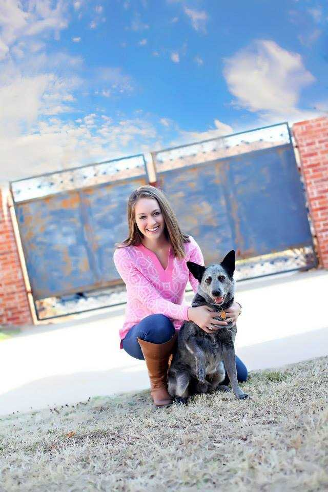 Meteorologist Shelby Hays and her puppy.