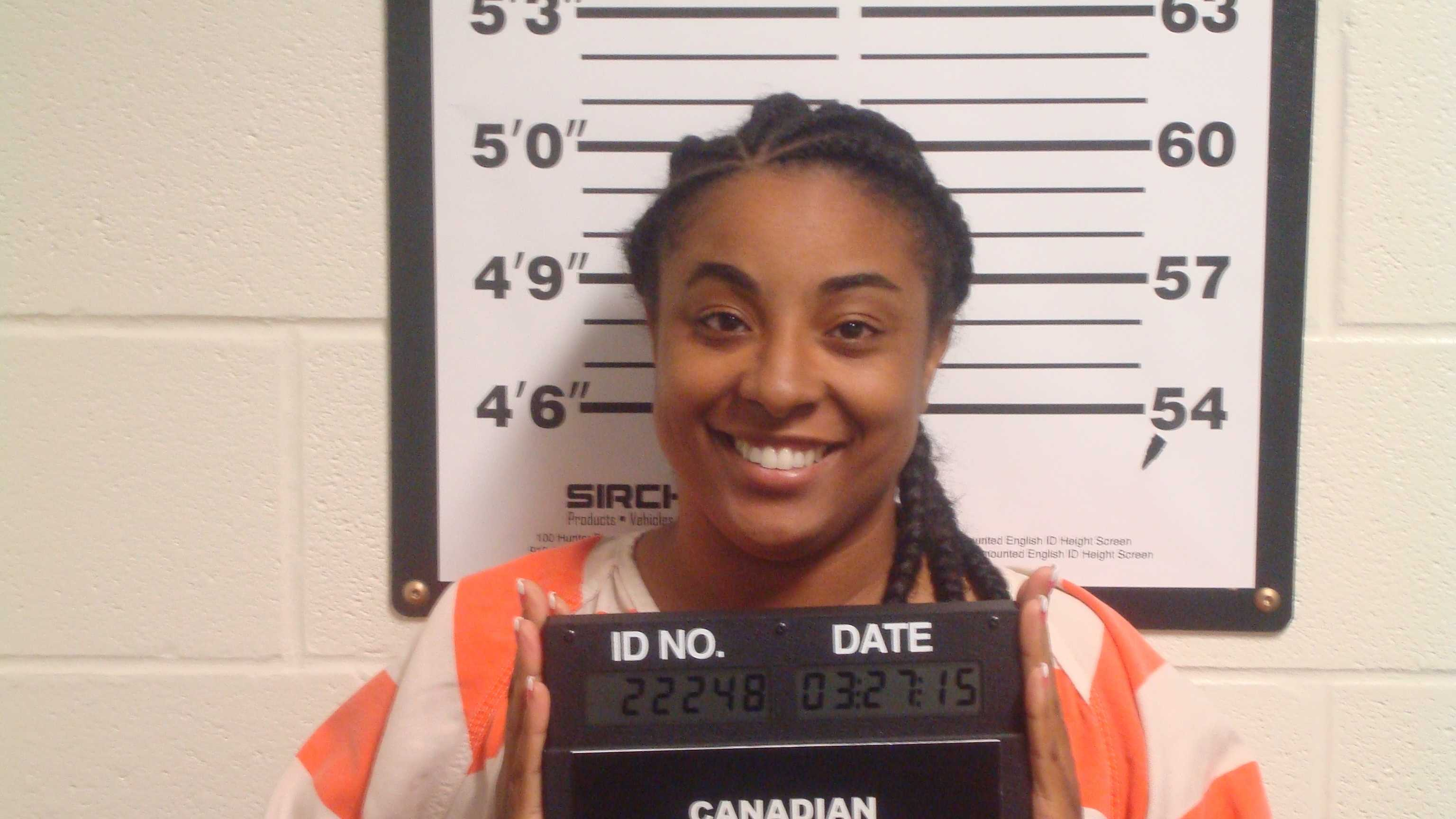 Canadian County Sheriff's Office deputies arrested a South Carolina woman Friday morning after they said she was driving on I-40 near the south Canadian River bridge with 31 pounds of marijuana hidden in a motor home.
