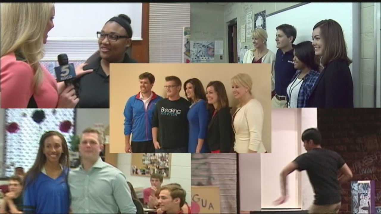 KOCO's Free Ride finalists were surprised during school Monday.