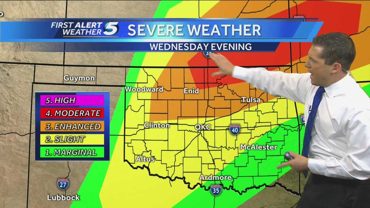 KOCO Chief Meteorologist Damon Lane tracks Wednesday's severe weather storms throughout the state.