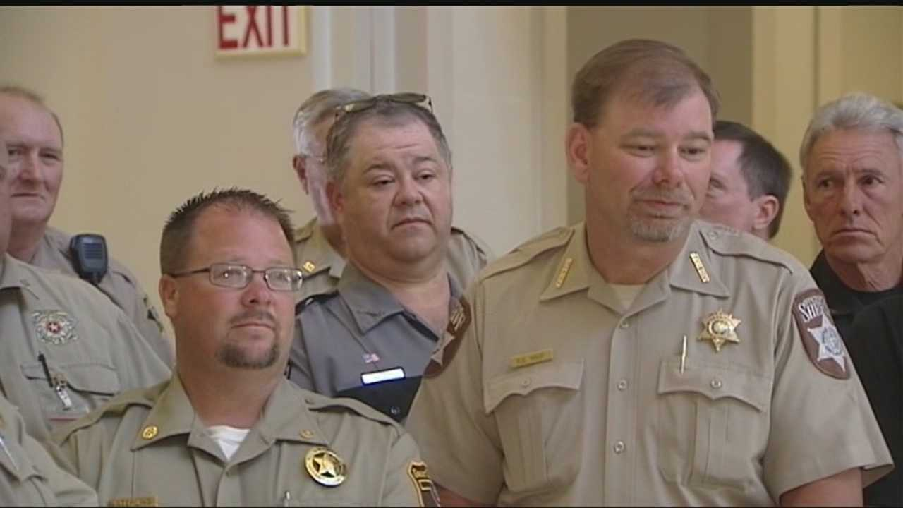 Dozens of sheriffs from all over Oklahoma gathered at the Capitol Thursday to push for more security at courthouses.