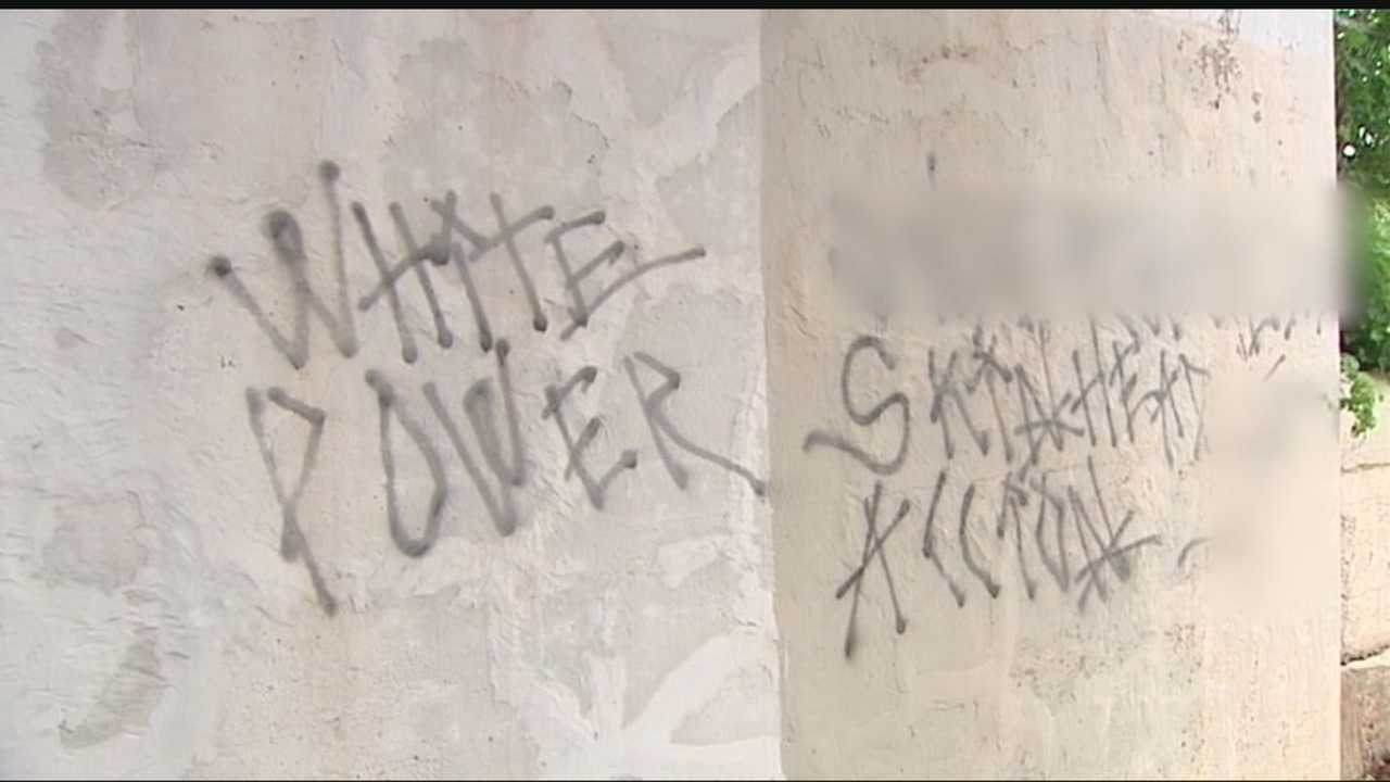 Oklahoma City police are investigating after the graffiti was found.