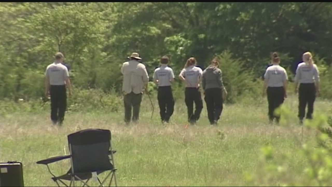 Cadets helped authorities search for evidence in the Anne Hill case in McClain County.