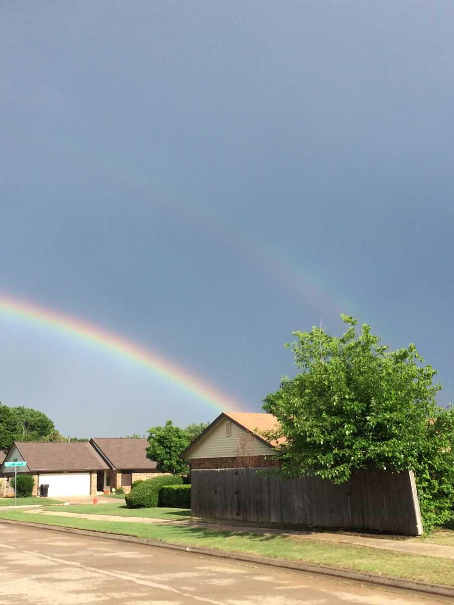 Double Rainbow! Gods beauty shines through.Location : North OKC