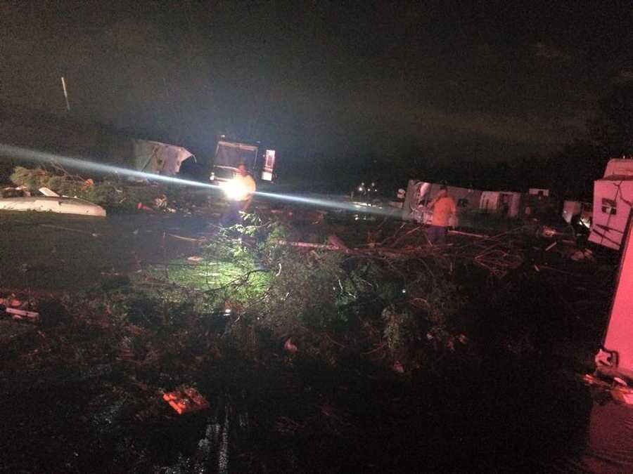 Of the injured, five people are in critical condition. At least two of those critical patients are from an RV park in southeast Oklahoma City that seemingly took a direct hit from the tornado.