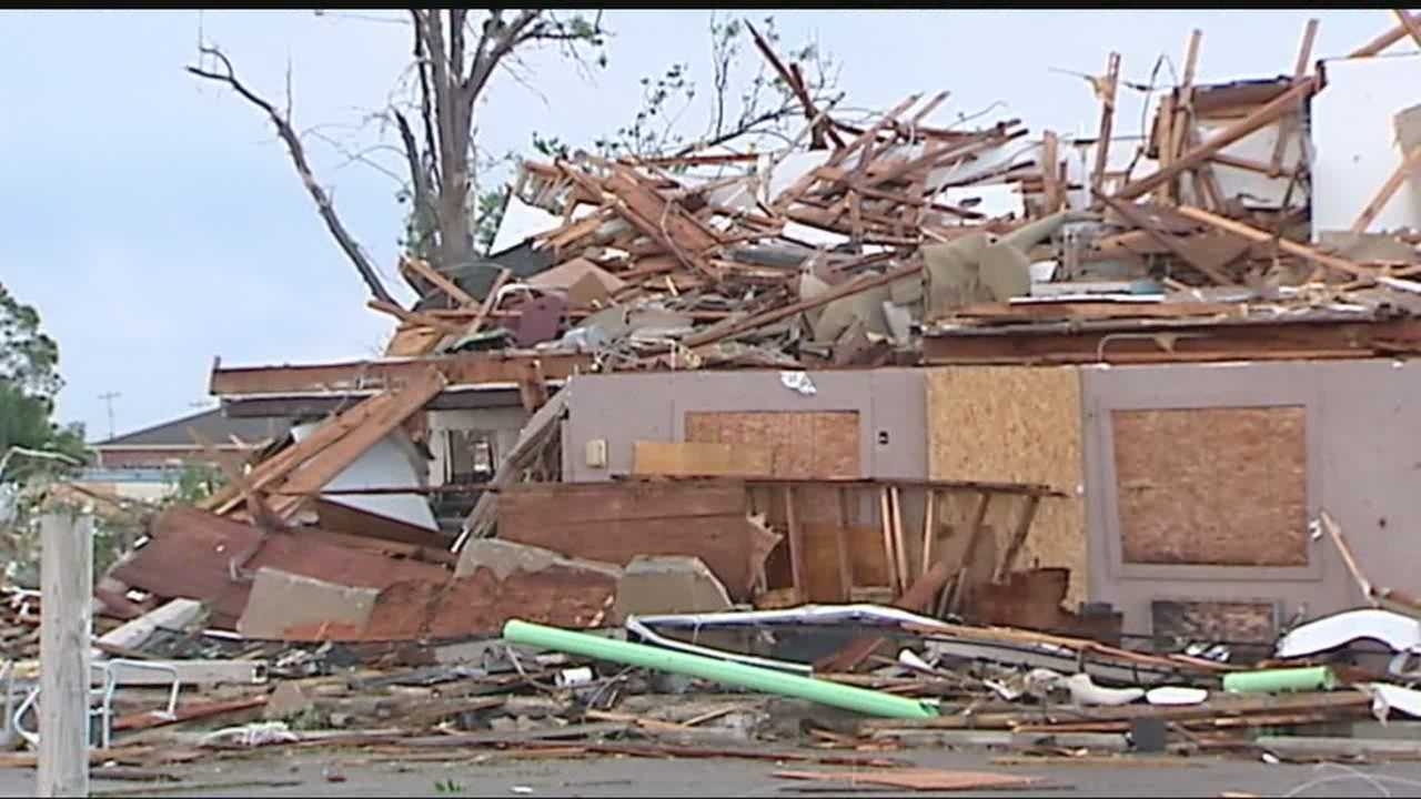 A family with young children, who were staying at the Best Value Inn off I-35 and Southeast 48th in Oklahoma City, narrowly escaped Wednesday's storm.