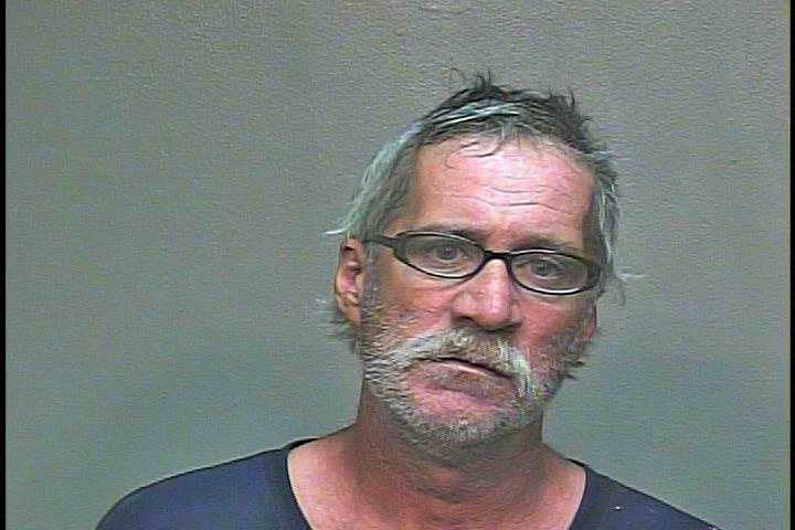 Six homeless people were arrested Sunday night after police said they were drunkenly harassing other people. James Davis pictured.
