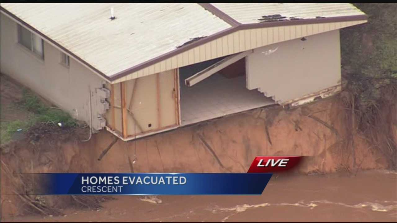 The Twin Lakes Fire Department evacuated many homes overnight and more evacuations could come, officials say.