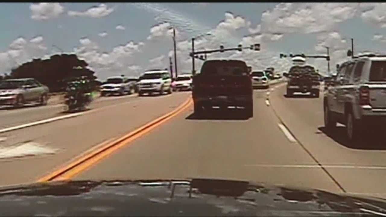 Dash cam footage shows the police pursuit with the suspect.