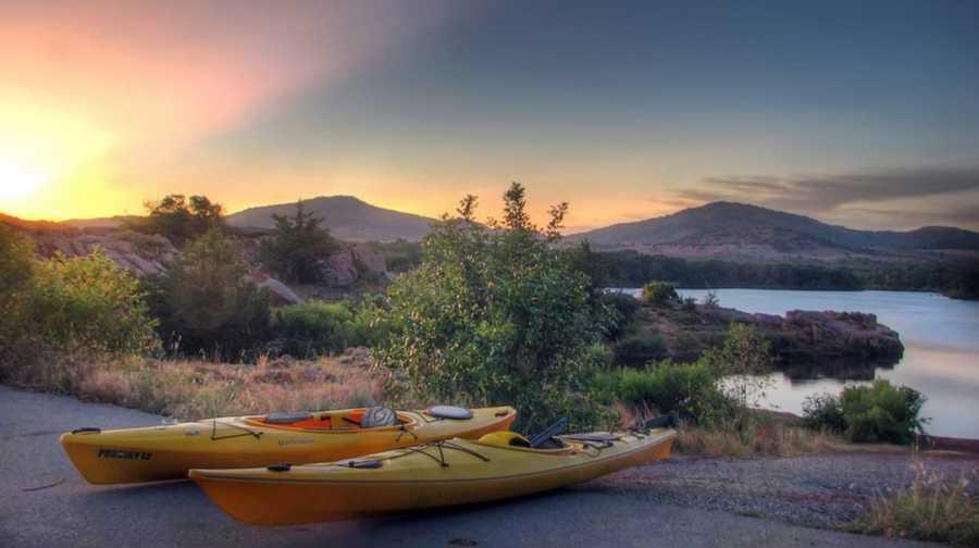 Kayaking at Quanah Parker Lake.Photo from Flickr courtesy Jonathan Wheeler.