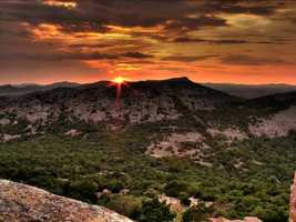 Looking for a weekend road trip you can make on one tank? In the first edition of the KOCO Summer Tour Guide, we're taking you to the Wichita Mountains National Wildlife Refuge, where hiking, wildlife spotting, scenic drives and kayaking are all options. Click through to see photos from the refuge.See the sunrise from Mt. Scott - Photo from Flickr courtesy Jonathan Wheeler