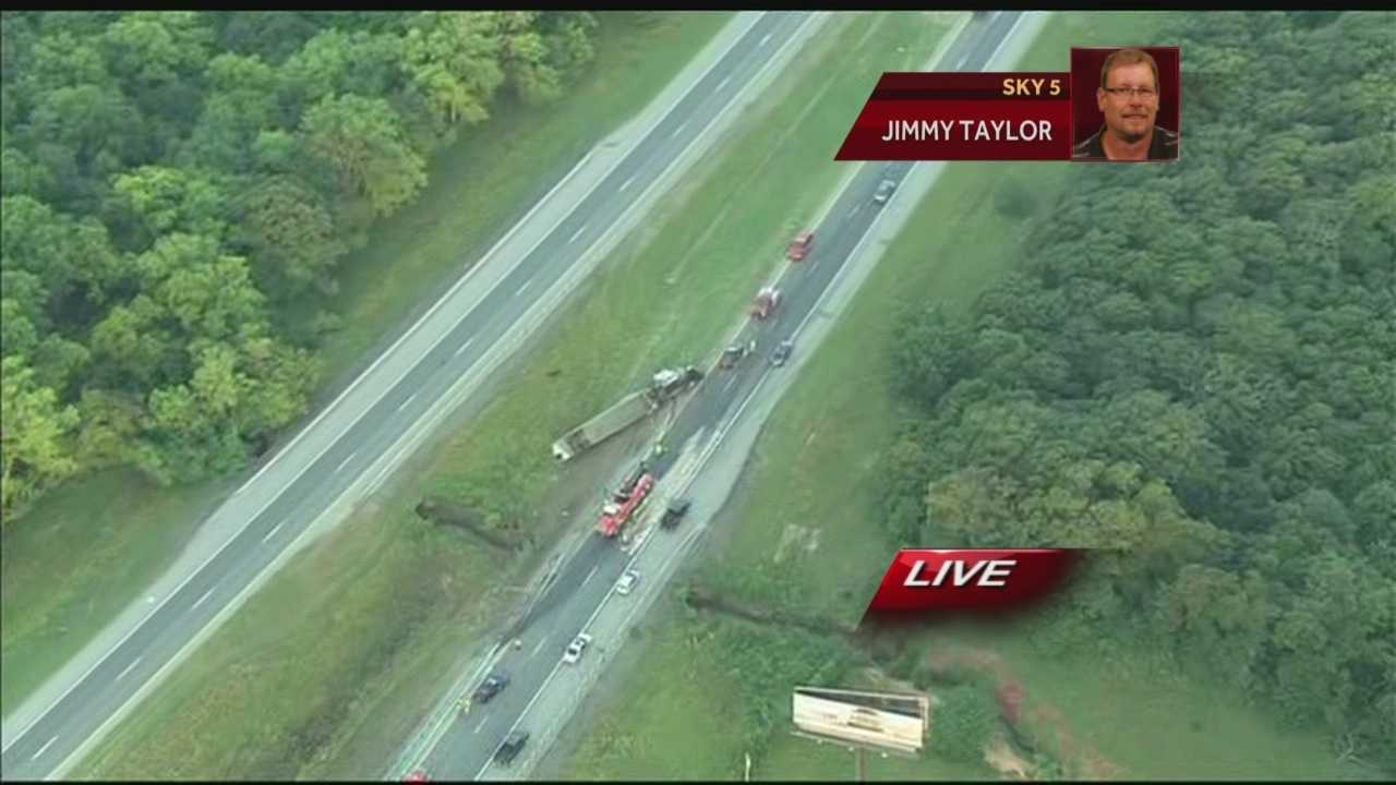 FOR FACEBOOK: Cattle truck from Sky5