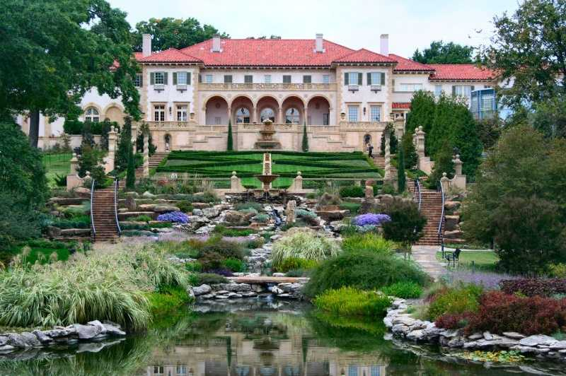 The Philbrook Museum in Tulsa was once a home to an Oklahoma oil pioneer. Now it boasts European, American, Native American and Modern art. You can also walk through the beautiful gardens. Photo from Flickr by Raymond Bucko, sj.