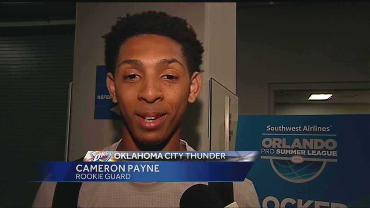 Thunder rookie Cameron Payne is being held out of Summer League play due to a fractured finger.