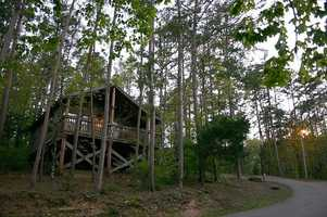 Stay the night in one of the luxury cabins at Beavers Bend State Park. Photo from Flickr by Clinton and Charles Roberts.