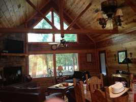 Inside a Broken Bow cabin