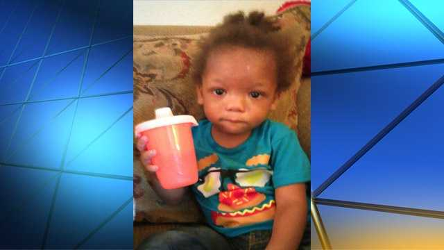 Photo from the woman who said she found the child at the apartment complex.