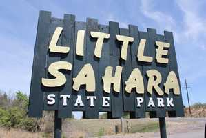 Little Sahara State Park near Waynoka features the only sand dunes in the state. Photo from Flickr by Matt Howry.