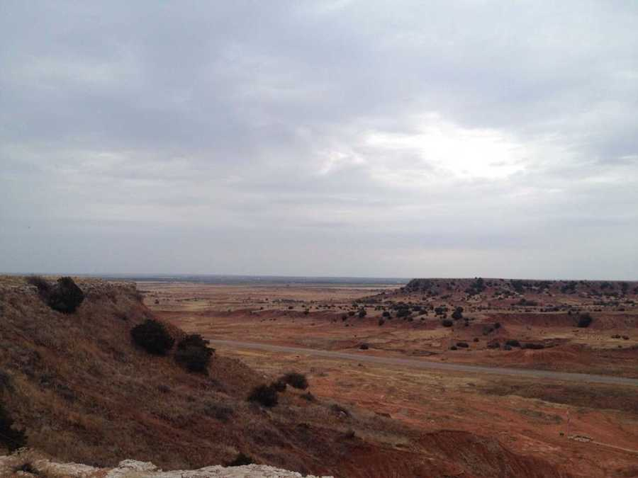 Gloss Mountain State Park near Fairview features mountains rising from the Oklahoma plains, along with hiking and picnic areas.