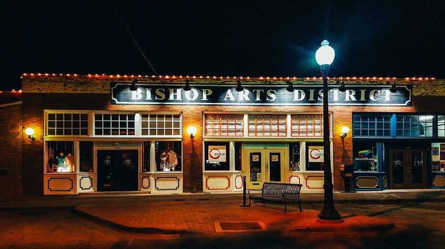 The Bishop Arts District is one of the most unique neighborhoods in Dallas, and is the home of restaurants, bars, art galleries and shops. Check it out. Photo from Flickr by Adam Simmons.