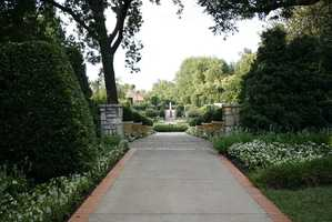 The Dallas Arboretum and Botanical Garden is a 66-acre urban oasis. Go here for a date or a leisurely stroll. Photo from Flickr by Gardening in a Minute.