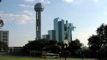 The Reunion Tower provides a great overlook of Dallas. Photo from Flickr by Mariano Mantel.