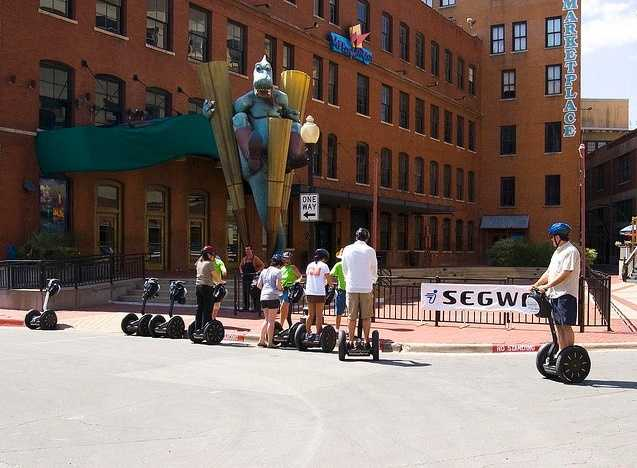 Want to get a tour of Dallas but don't want to walk? How about a segway tour? Photo from Flickr by Rachel Knickmeyer.