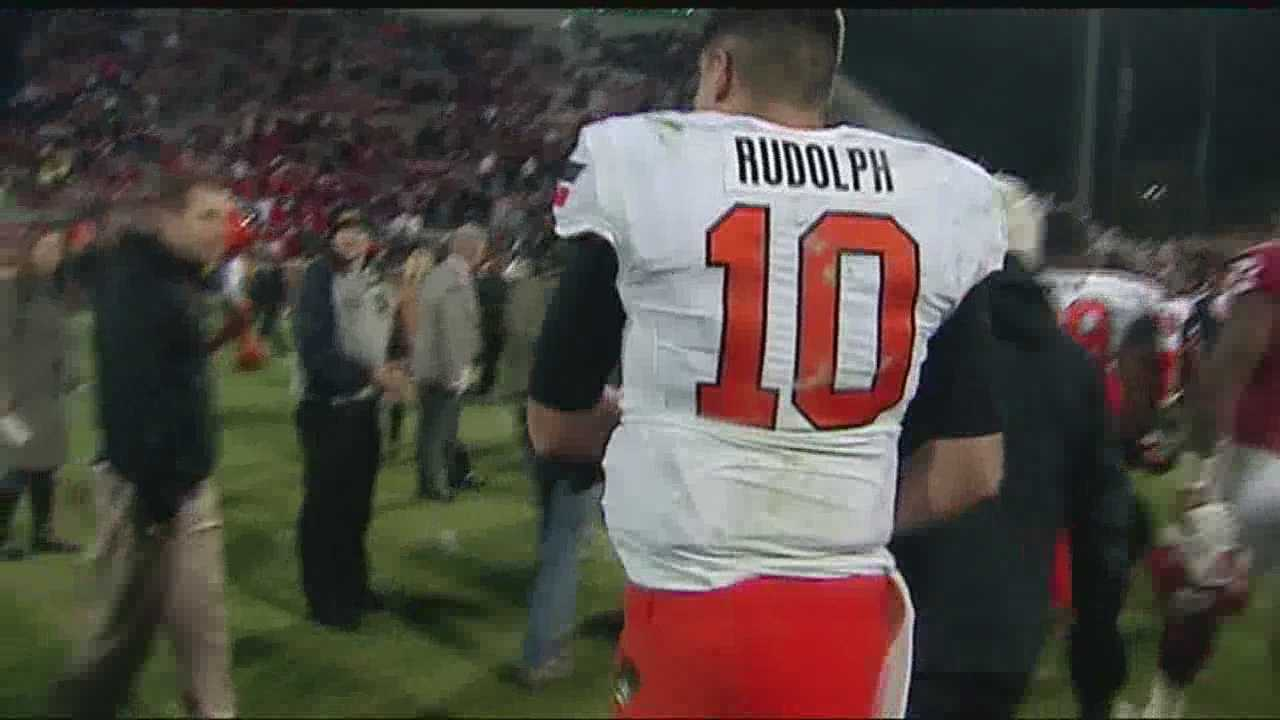 Oklahoma State Quarterback Mason Rudolph is in the spotlight, playing three outstanding games for the Cowboys last season. Can he continue that streak this season? And how long will he stay at OSU if he's as good as it appears?